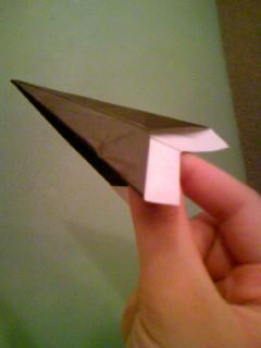 紙飛行機。ブーン。
