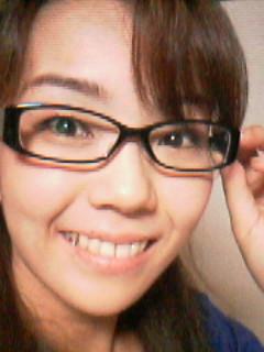 黒ぶちメガネ♪