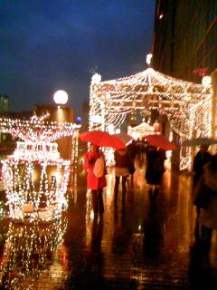 街はクリスマスムードだぁ…。