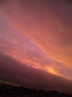 変な色してた…空。